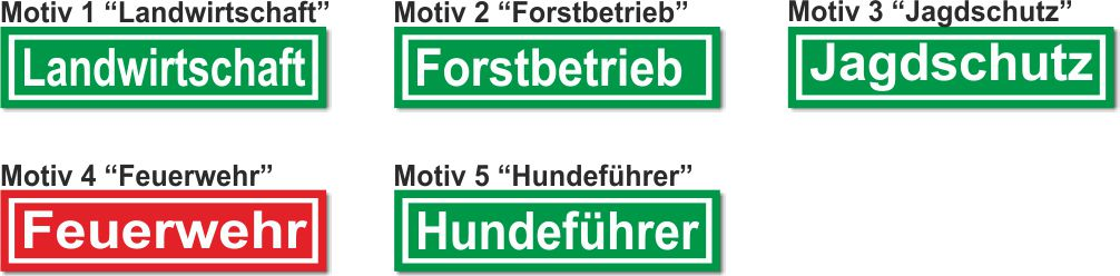 Forst-Jagdschutz Magnetfolie-Magnetschild-Forstbetrieb