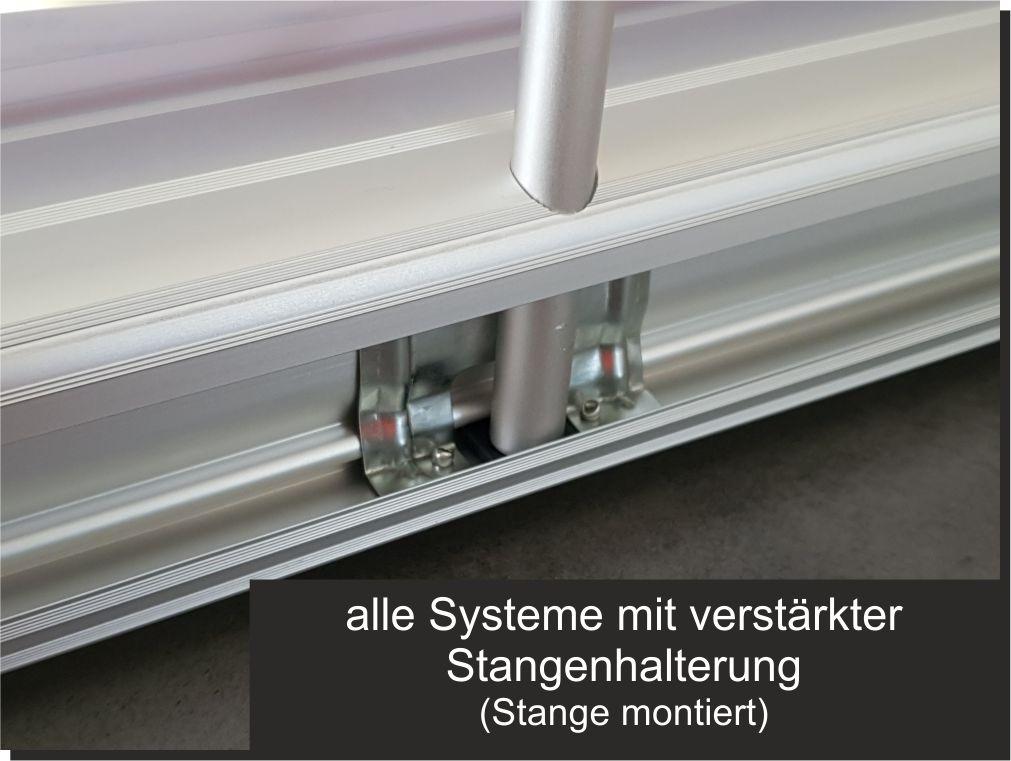 Raumteiler transparent Spuckschutz Hygieneschutz RollUp 80 x 200cm Banner—DE